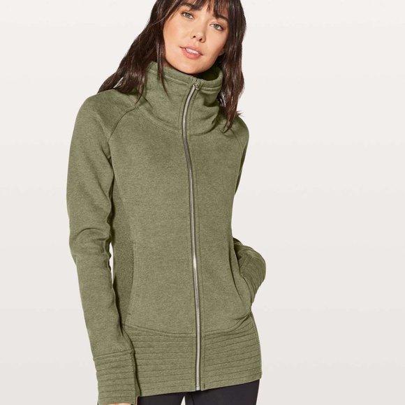 Lululemon Radiant Jacket Heathered Fatigue Green 2